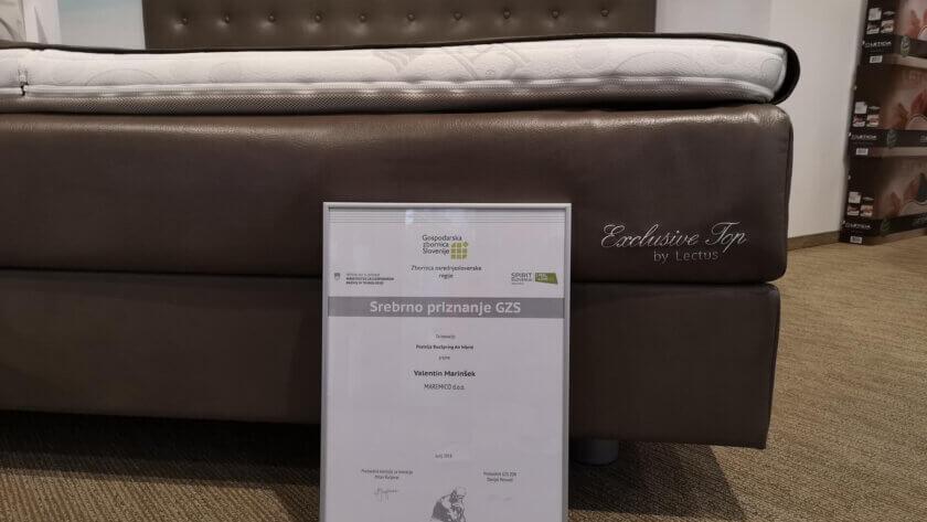 Priznanje GZS za posteljo BoxSpring Air Hibrid