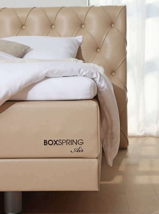 Postelja BoxSpring Air - visoka postelja z nadstandardno višino