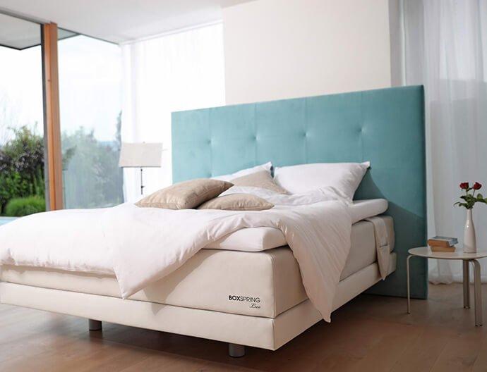 Boxspring postelje Lite model- masivne postelje po meri za dovršeno spanje. Maremico spalni center - ergonomska ležišča.