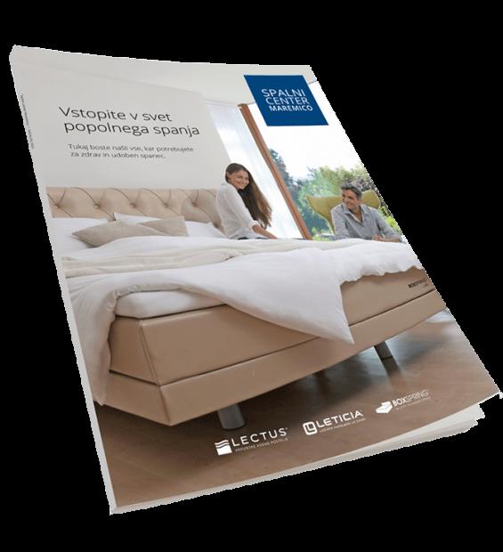 Postelja boxspring - katalog. Izdelano v Sloveniji - postelje po meri za kvalitetno spanje. Maremico spalni center.