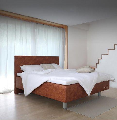 Boxspring postelje model - usnjena postelja. Boxspring Lite - vrhunsko lezisce Maremico.